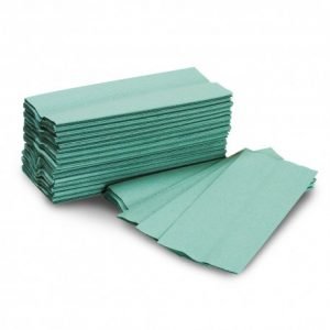 green paper towel