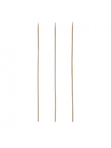 Wooden Round Single Point Skewer 6""
