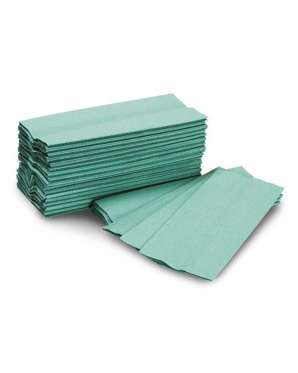 1ply Green C Fold Handtowels case of 2880