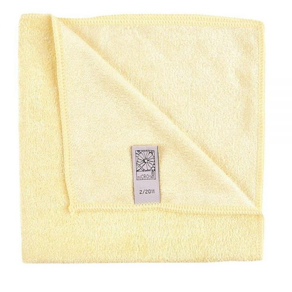 Microfibre Commercial Quality Cleaning Cloth - yellow