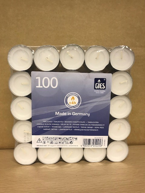 4 Hour Tea light Candles Bag of 100