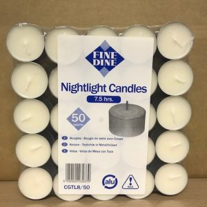 8 Hour Tea Light Candles Bag of 50