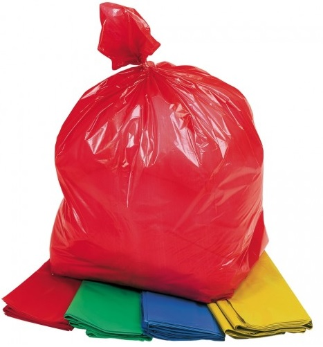 Medium Refuse Sack Blue Green Red Yellow