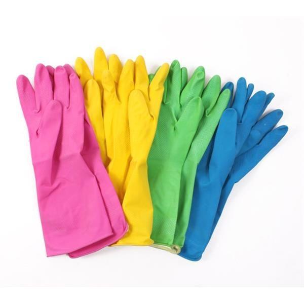 Household Rubber Gloves Pair flock lined