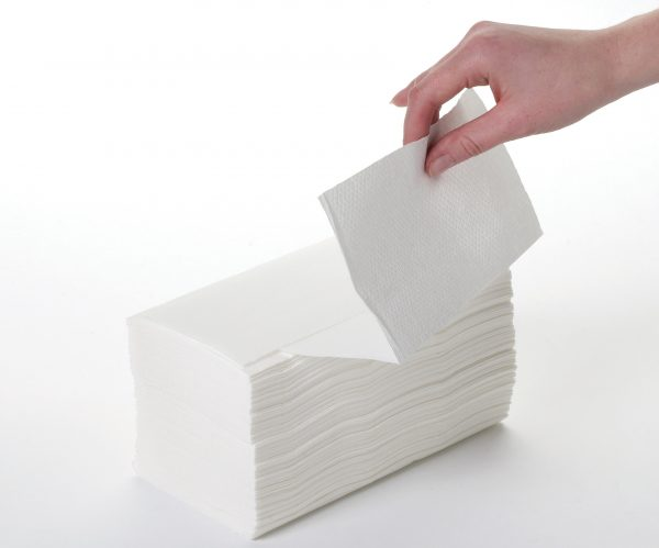 White 2ply Interfold Handtowels