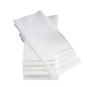 40cm Tablin Airlaid 8 Fold White Napkins