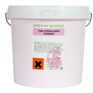 Pink Steralising Sanitising Powder