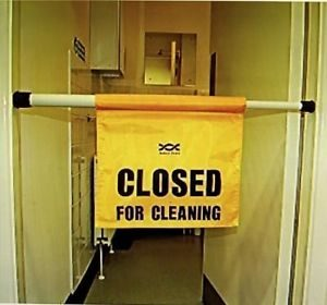 Hanging door safety sign 'closed for cleaning' Wet Floor Sign