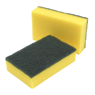 Spongeback Scourers Heavy Duty Catering Sponges / Scourers for Kitchens Bathrooms and Heavy Duty Cleaning Pack of 10