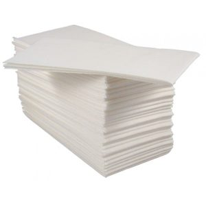 40cm Tablin/Airlaid 4 Fold White Napkins