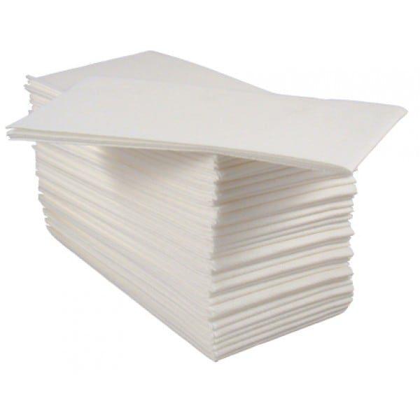 40cm Tablin/Airlaid 4 Fold White Napkins