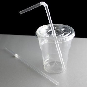 Clear 8inch Bendy Straws