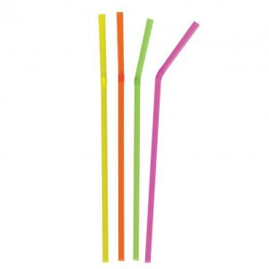 Neon Bendy Straws - 210mm x 5mm
