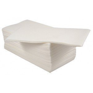 8 Fold White 40cm 2ply Dinner Napkin Serviettes
