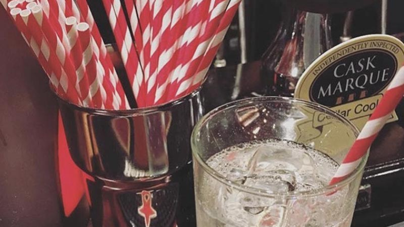 Candy Stripe Compostable straws at Prospect