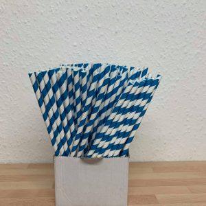Blue paper straw