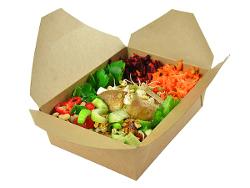 Eco friendly food packaging, vegware food carton