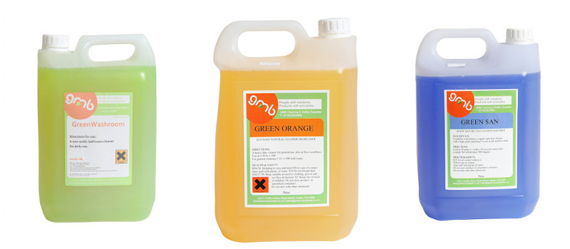 eco-friendly cleaning products - bathroom cleaner, sanitiser, degreaser